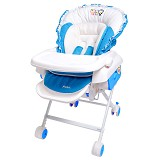 PUKU Swing Chair & Bed [P30304-B] - Blue - Baby Highchair and Booster Seat